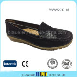 Mother Work Flats Shoes Leather Lining and Upper