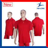 Healong High Quality Sports Apparel Gear Pure Colour Polo Shirts for Men