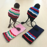 Kids Children Winter Earmuff Warm Scarf Hat Set Knitted Scarf (SK423S)