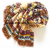 New Arrival Geometic Printing Polyester Lady Scarf (HWBPS108)