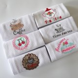 100% Cotton Waffle Embroidery Kitchen Towel