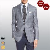 OEM Latest Design Men's Trim Fit Business Checked Blazer Suit